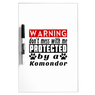 Protegido por Komondor Tablero Blanco