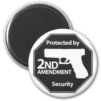 Protegido por la 2da enmienda imán de nevera