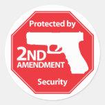 Protegido por la 2da enmienda - rojo etiqueta