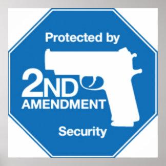 Protegido por la 2da seguridad de la ENMIENDA Póster