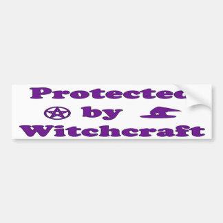 Protegido por la brujería pegatina para auto