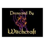 Protegido por la brujería tarjetas de visita grandes
