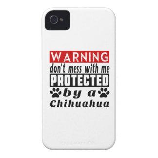 Protegido por la chihuahua funda para iPhone 4 de Case-Mate