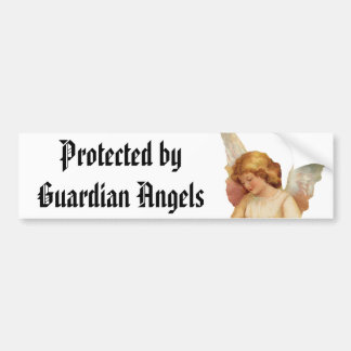 Protegido por la pegatina para el parachoques de l pegatina para auto