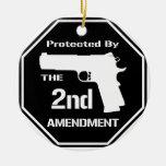 Protegido por la segunda enmienda .png (negro) ornato