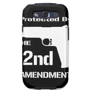 Protegido por la segunda enmienda .png (negro) samsung galaxy s3 carcasas