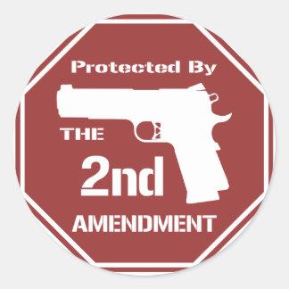 Protegido por la segunda enmienda png rojo etiqueta