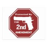 Protegido por la segunda enmienda .png (rojo) postal