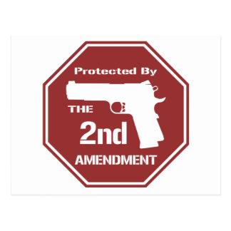 Protegido por la segunda enmienda .png (rojo) tarjetas postales
