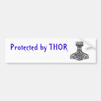Protegido por Thor Pegatina Para Auto