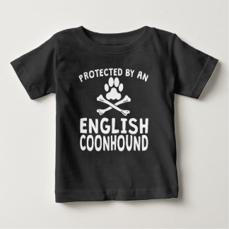 Protegido por un Coonhound inglés Playera