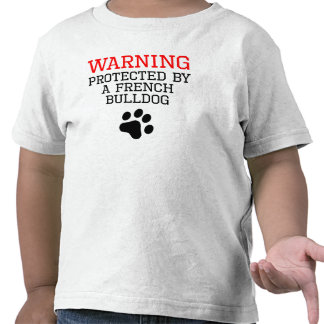 Protegido por un dogo francés camisetas