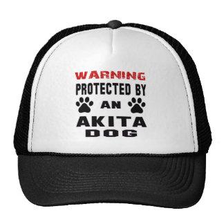 Protegido por un perro de Akita Gorras De Camionero