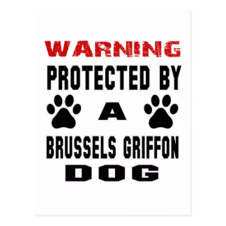 Protegido por un perro de Bruselas Griffon Postal