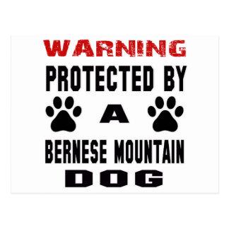 Protegido por un perro de montaña de Bernese Postal