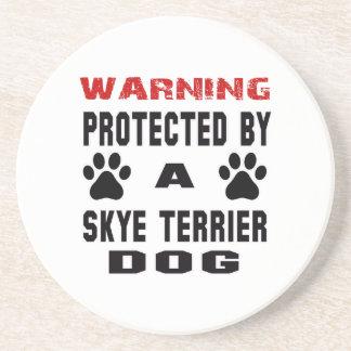 Protegido por un perro de Skye Terrier Posavasos Manualidades