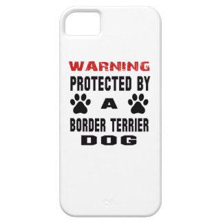 Protegido por un perro de Terrier de frontera iPhone 5 Carcasa
