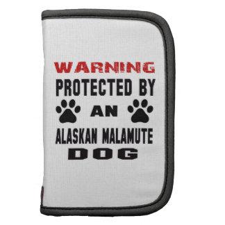 Protegido por un perro del Malamute de Alaska Organizador