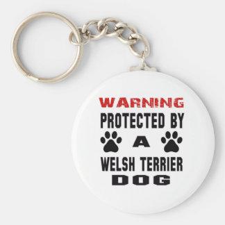 Protegido por un perro del terrier galés