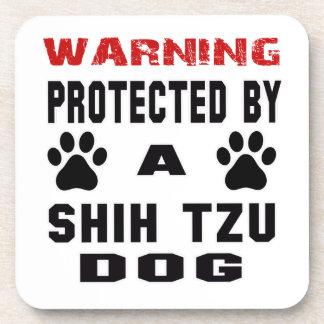 Protegido por un perro del tzu de Shih Posavasos De Bebida