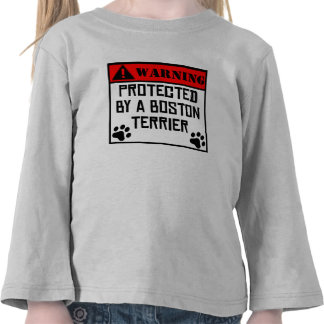 Protegido por una Boston Terrier Camiseta