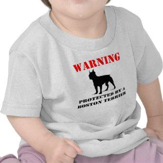 Protegido por una Boston Terrier Camisetas