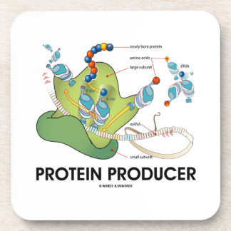 Protein Producer (mRNA tRNA Protein Synthesis) Beverage Coaster
