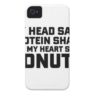 Protein Shake or Donuts iPhone 4 Case