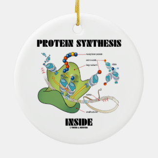 Protein Synthesis Inside (mRNA tRNA) Double-Sided Ceramic Round Christmas Ornament