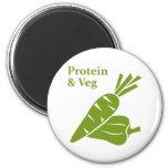 Protein & Veg 2 Inch Round Magnet