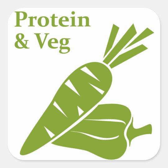 Protein & Veg day sticker