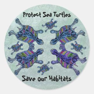 Proteja a los pegatinas de los hábitats de la etiquetas redondas