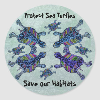Proteja a los pegatinas de los hábitats de la pegatina redonda