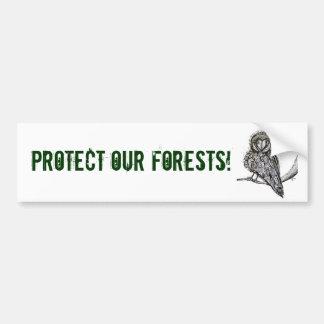 Proteja a nuestra pegatina para el parachoques de etiqueta de parachoque