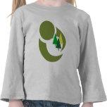 Proteja al niño de los árboles camisetas