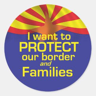 Proteja al pegatina de Arizona de las familias