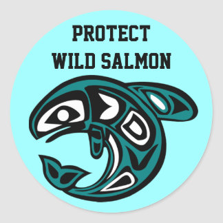 Proteja al pegatina de color salmón salvaje