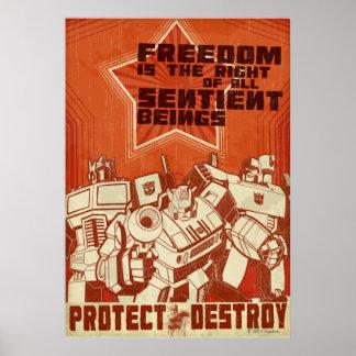 Proteja/destruya Póster