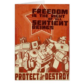 Proteja/destruya Tarjeta De Felicitación