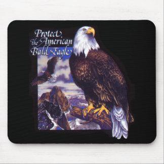 Proteja Eagle calvo americano Tapetes De Raton