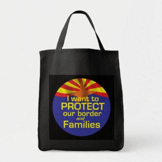 Proteja el bolso de Arizona de las familias Bolsa Tela Para La Compra