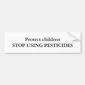 Proteja el childrenSTOP USANDO LOS PESTICIDAS Etiqueta De Parachoque