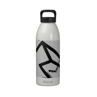 Proteja el duende malicioso botella de agua reutilizable