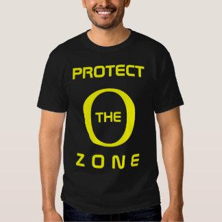 Proteja el negro y el amarillo del ozono playeras