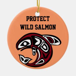 Proteja el ornamento de color salmón salvaje ornamento para reyes magos