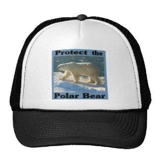 Proteja el oso polar gorros bordados