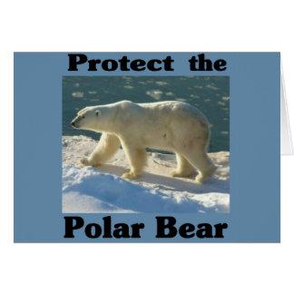 Proteja el oso polar felicitacion