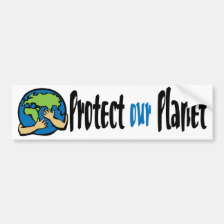 Proteja hacia fuera el planeta etiqueta de parachoque