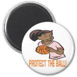 Proteja la bola imán para frigorifico
