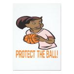 Proteja la bola invitación 12,7 x 17,8 cm
